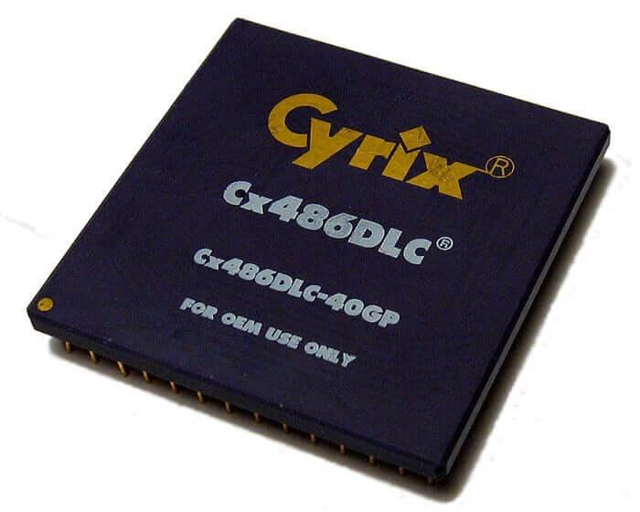 Cyrix 486DLC-40 - haut